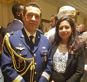 Meryem Nehaili with Colonel Chafik Lahjouji