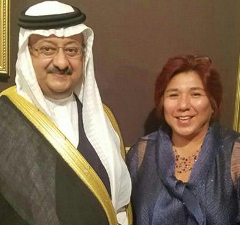 Milly Valverde with Prince Abdullah bin Faisal bin Turki bin Abdullah Al Saud